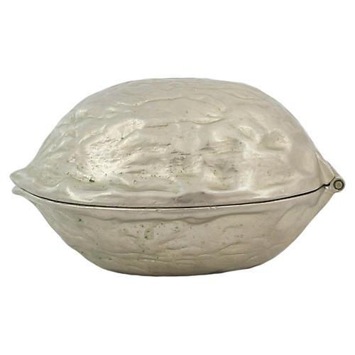 Silverplate Walnut Nutcracker