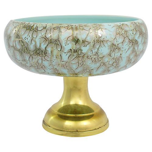 Delft Porcelain Pedestal Bowl