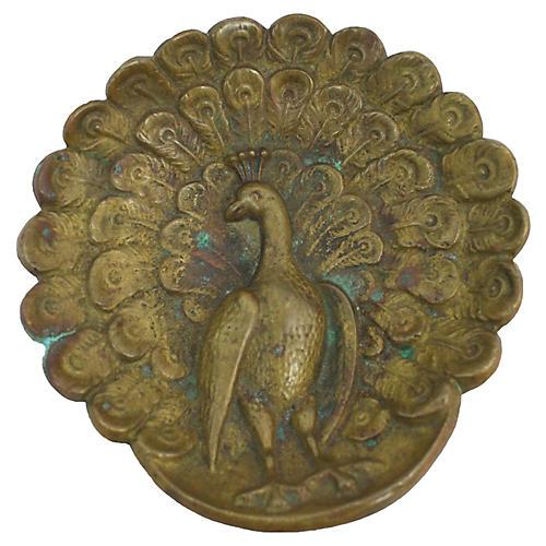 Art Nouveau Peacock Trinket Dish