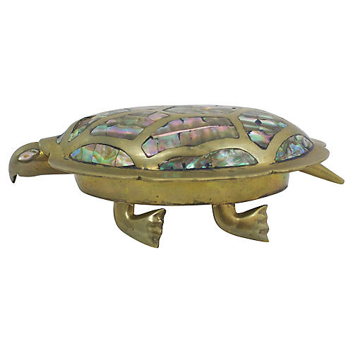 Inlaid Abalone Turtle Box