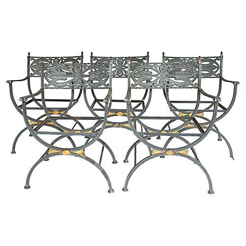 1950s Jansen-Style Chair Frames, S/5