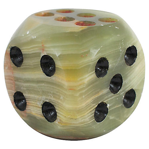 Onyx Dice Paperweight