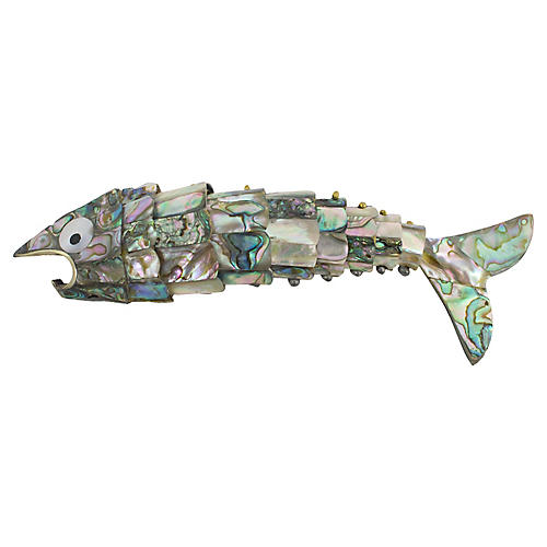 Abalone Jointed Fish Bottle Opener