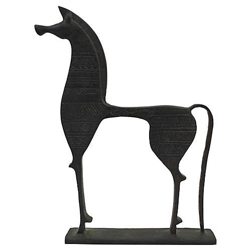 Mid Mod Etruscan Horse Figure
