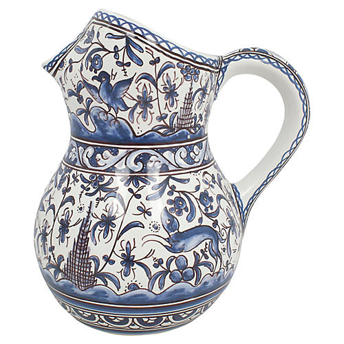 Hand-Painted Portuguese Pitcher