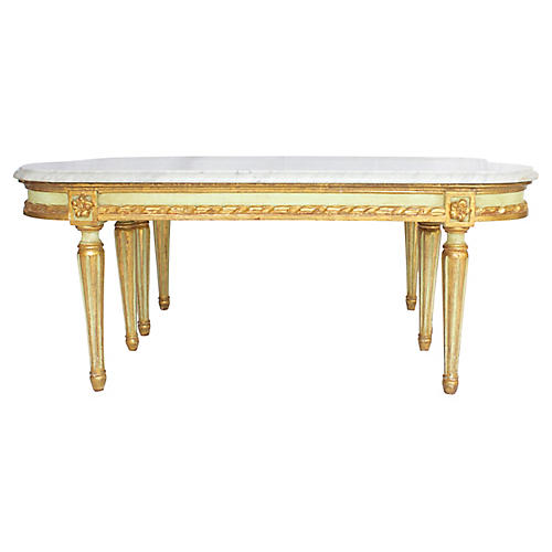French Marble-Top Side Tables, Pair