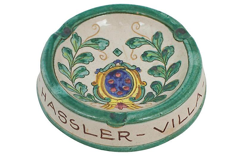 Deruta Italian Pottery Ashtray