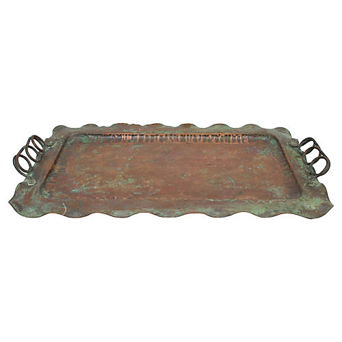 Hand-Crafted Copper Tray