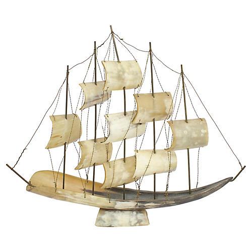 Large Italian Horn Ship Model