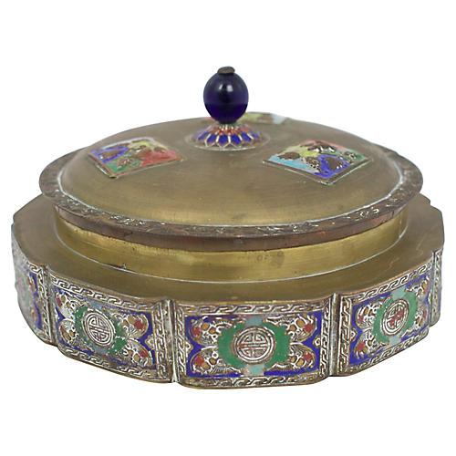 Enameled Brass Box