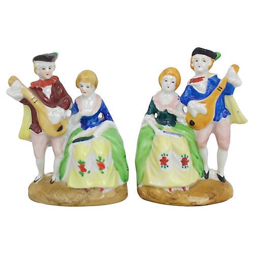 1940s Porcelain Figures, Pair