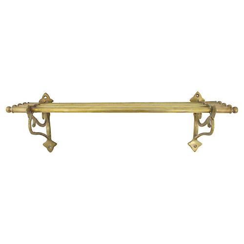 Solid Brass Train Storage Rack