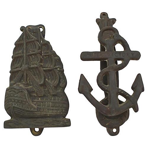 Nautical Door Knockers, Pair