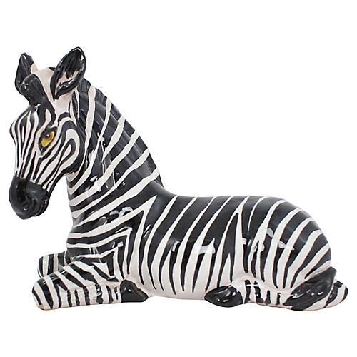 1960s Italian Terracotta Zebra