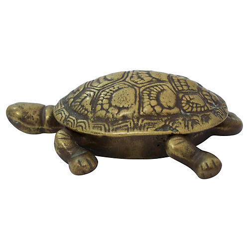 Brass Turtle Trinket Box