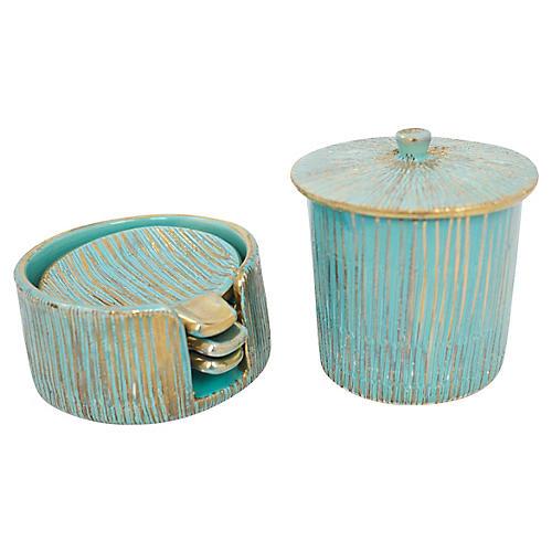 Italian Pottery Smoke Set, 5 Pcs