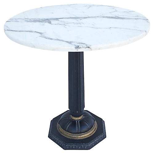 1940s Italian Marble-Top Side Table