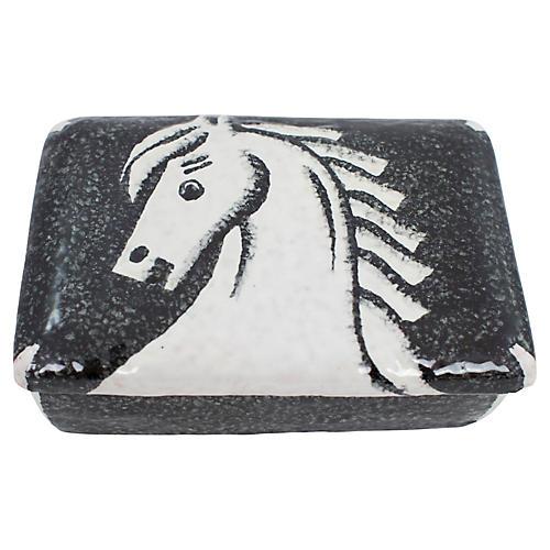 Italian Pottery Horse Box
