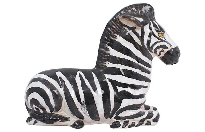 Italian Terracotta Zebra