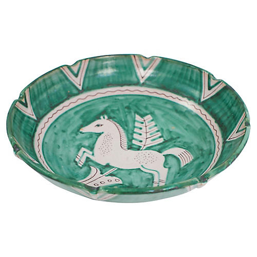 Italian Pottery Horse Bowl