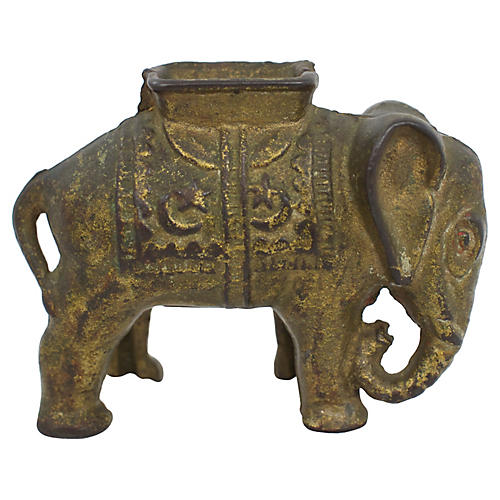 Antique Elephant Bank