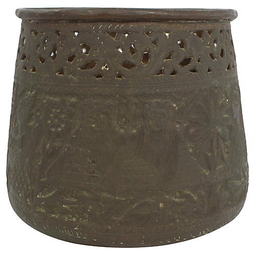 Egyptian Copper Cachepot