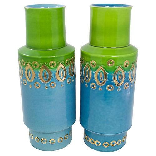 Mid-Century Italian Vases, Pr