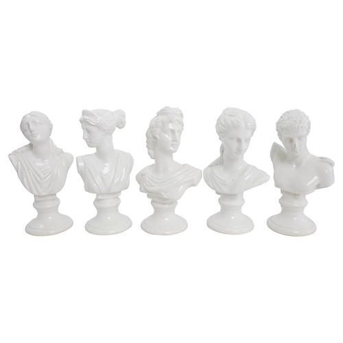 Italian Grecian Busts, S/5