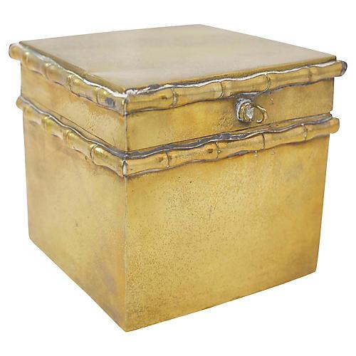 Brass Faux Bamboo Box