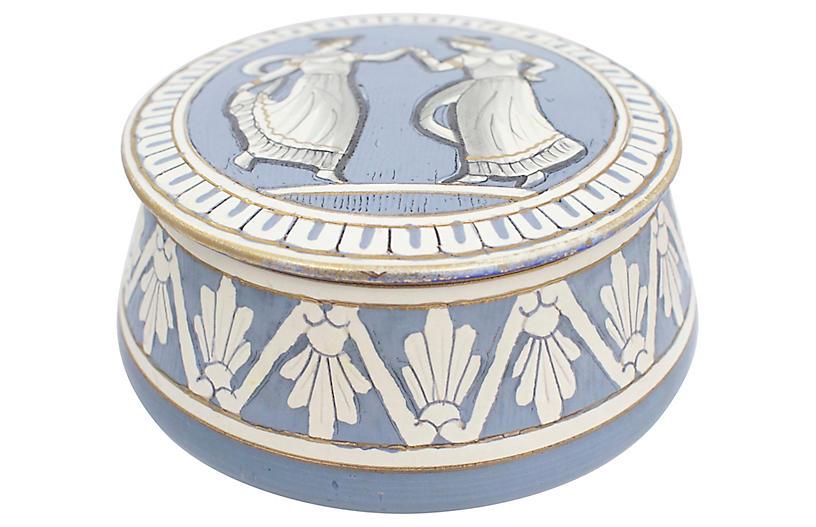 Deruta Pottery Neoclassical Box