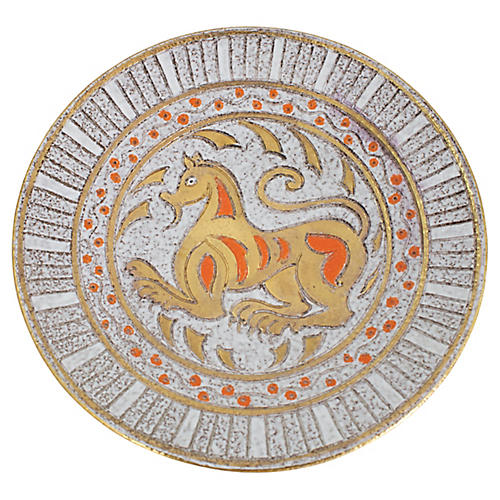 Italian Sgraffito Pottery Bowl