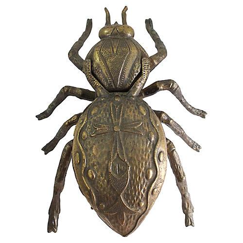 Italian Brass Beetle Ashtray