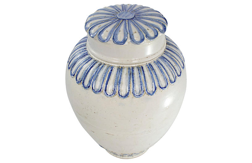 Large Pottery Ginger Jar