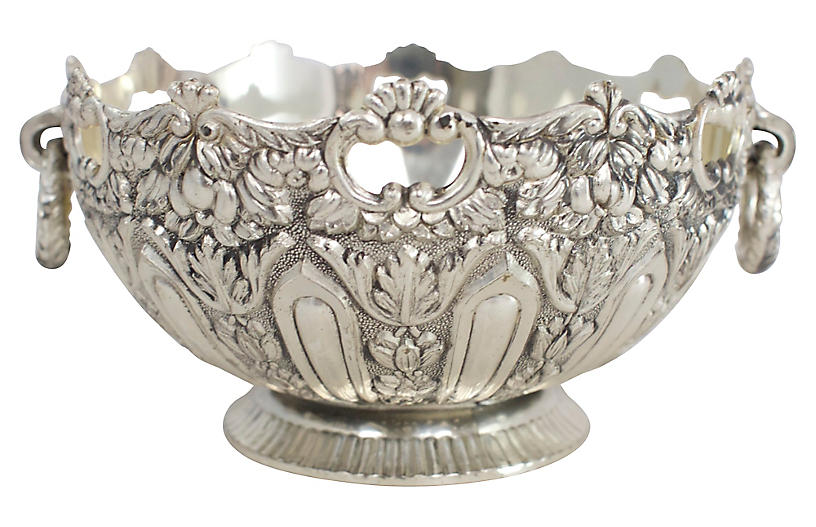 Ornate Silver-Plate Catchall