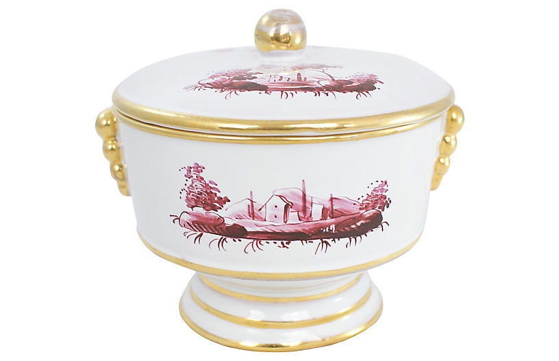 Italian Pottery Candy Dish