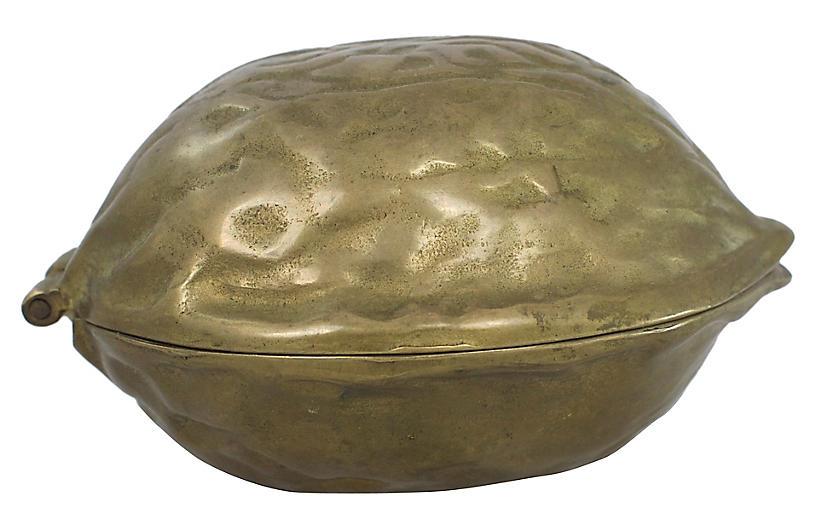 Brass Walnut Nutcracker