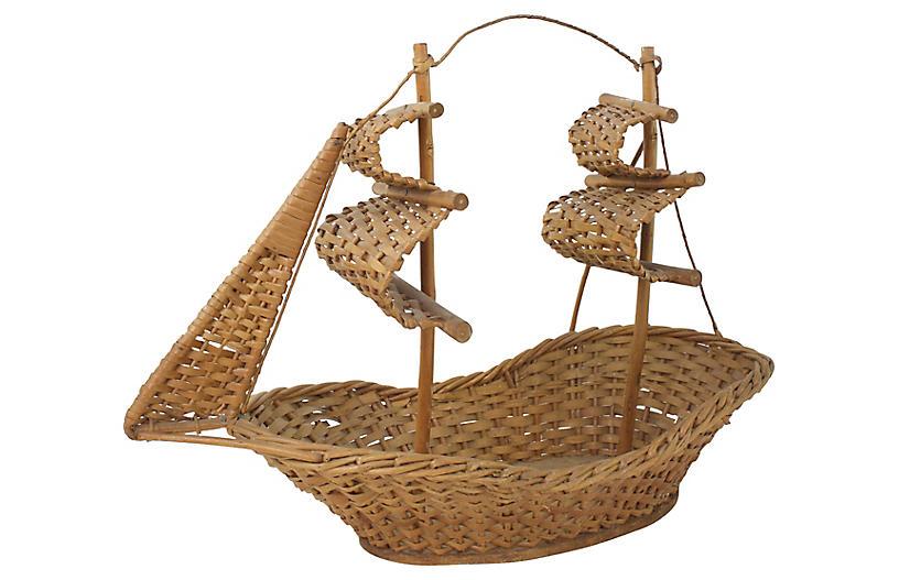 Wicker Masted Ship