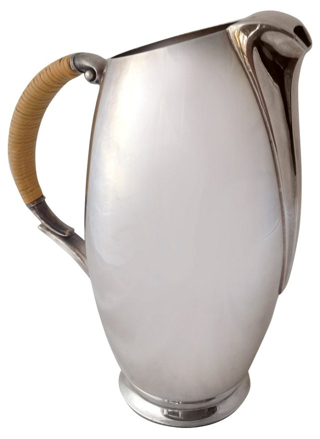 Deco-Style Silverplate Pitcher