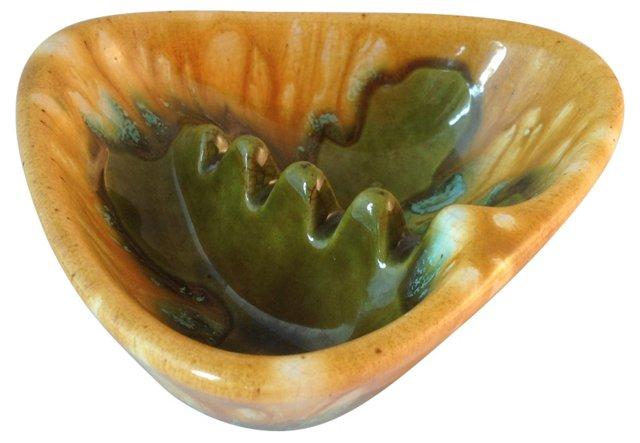 Ceramic Drip-Glaze Ashtray