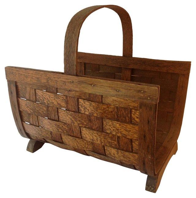 Handwoven Wood Basket