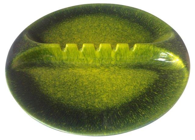 Green Midcentury Ashtray