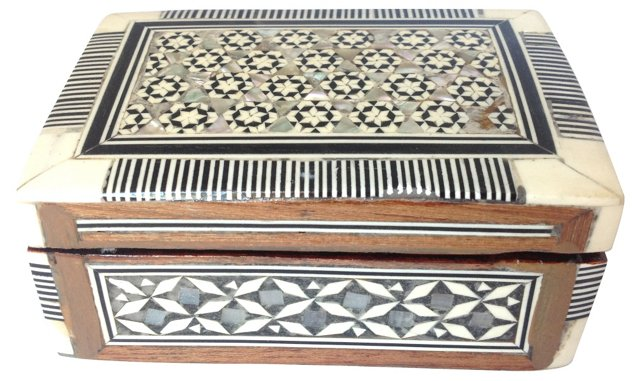 Marquetry & Mother-of-Pearl Inlay Box