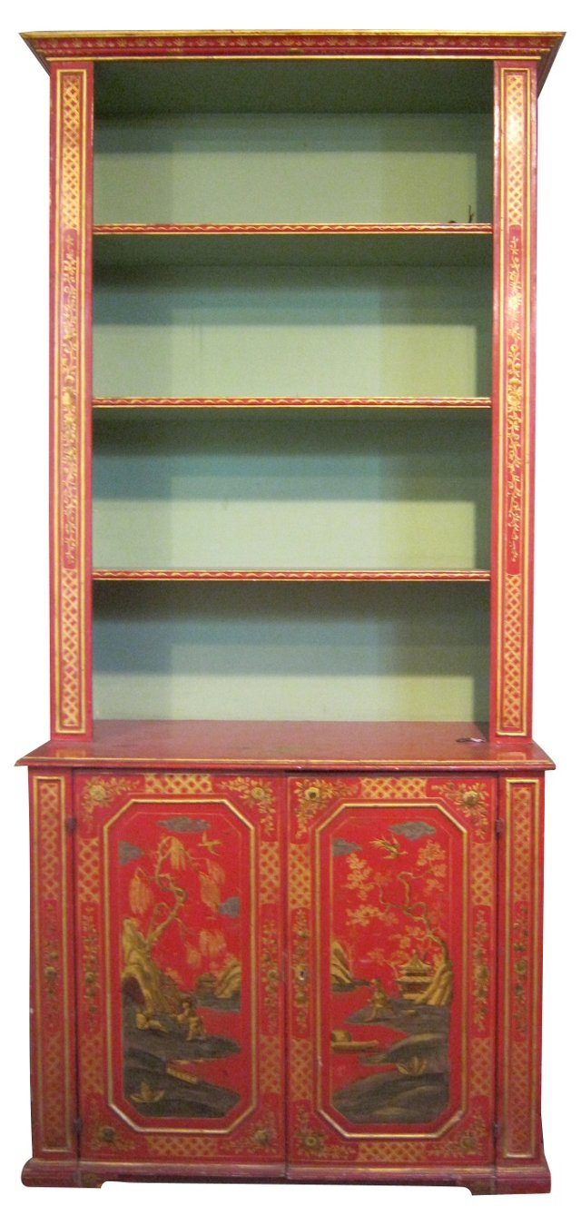 19th-C.  English Chinoiserie Bookcase