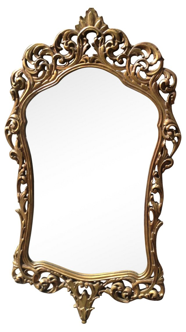 Carved & Gilded Italian Mirror