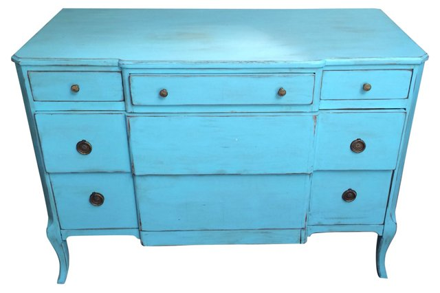 1930s Turquoise Dresser