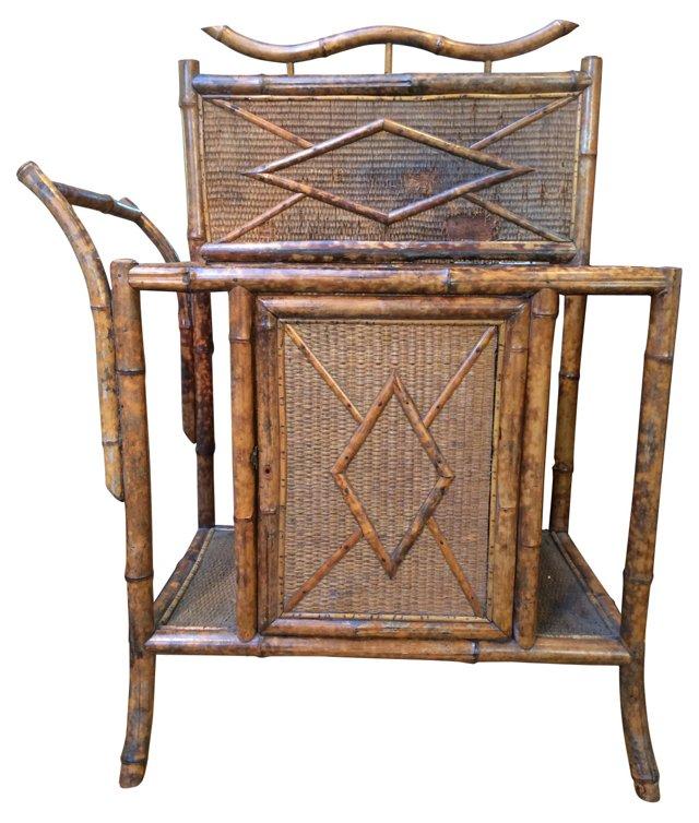 Antique English Bamboo Umbrella Stand