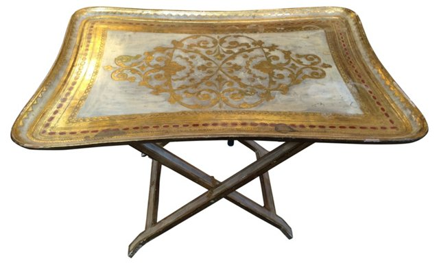 Gilded Italian  Tray Table