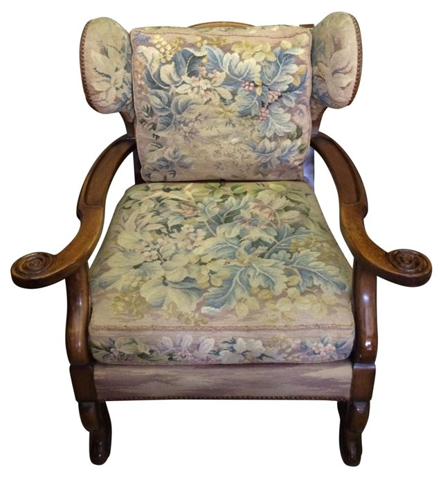 Wingback w/ Antique Tapestry