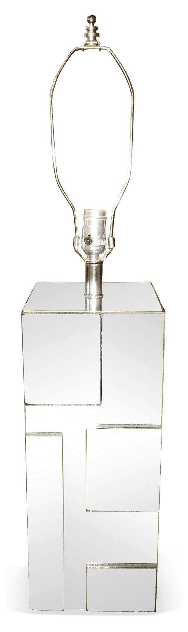 Midcentury Mirrored Lamp
