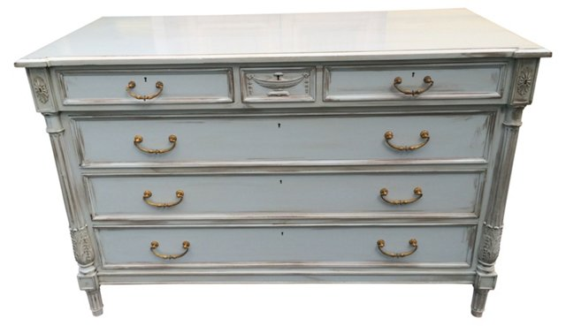 Directoire-Style French Gray  Chest